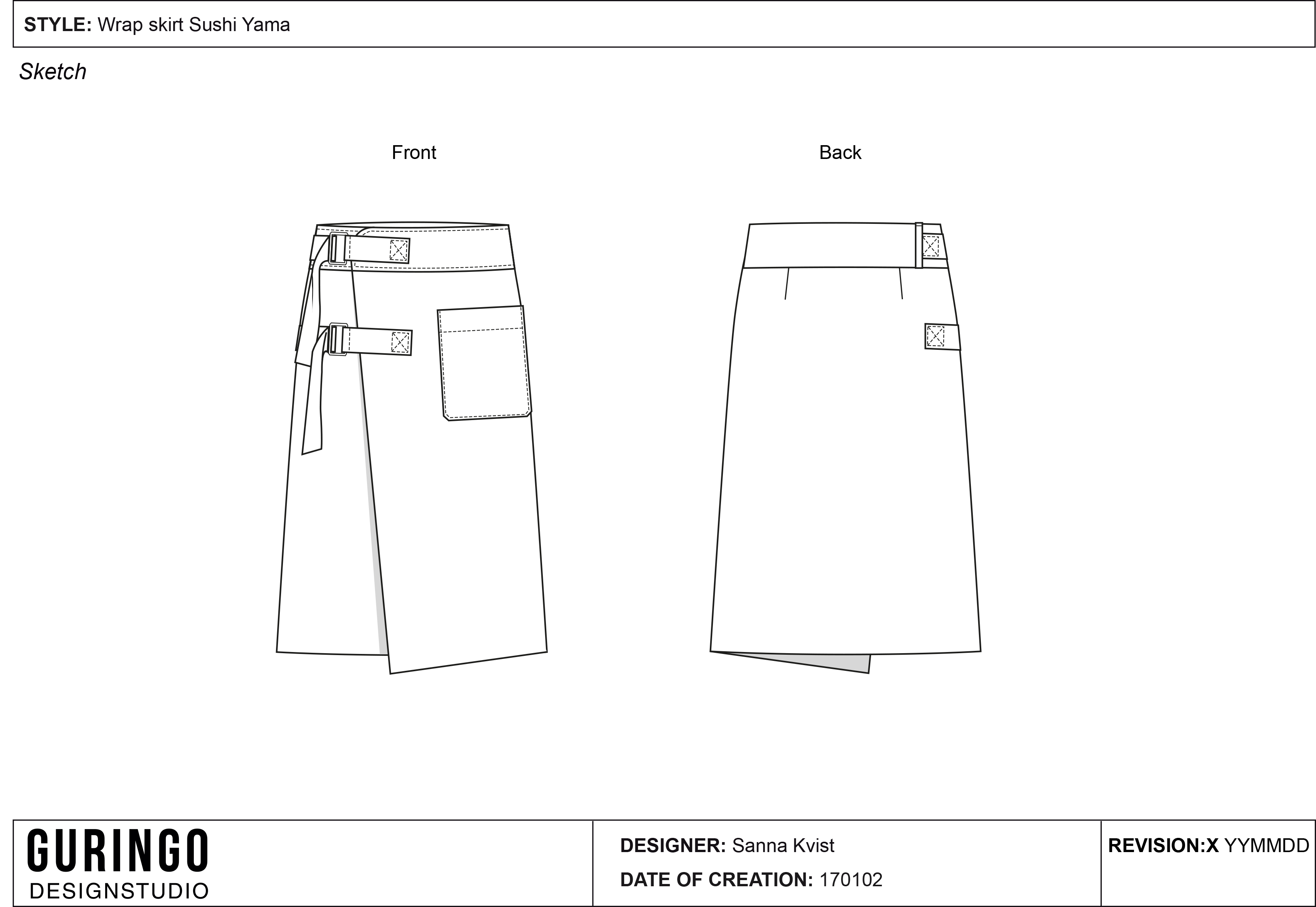 Wrap skirt-1