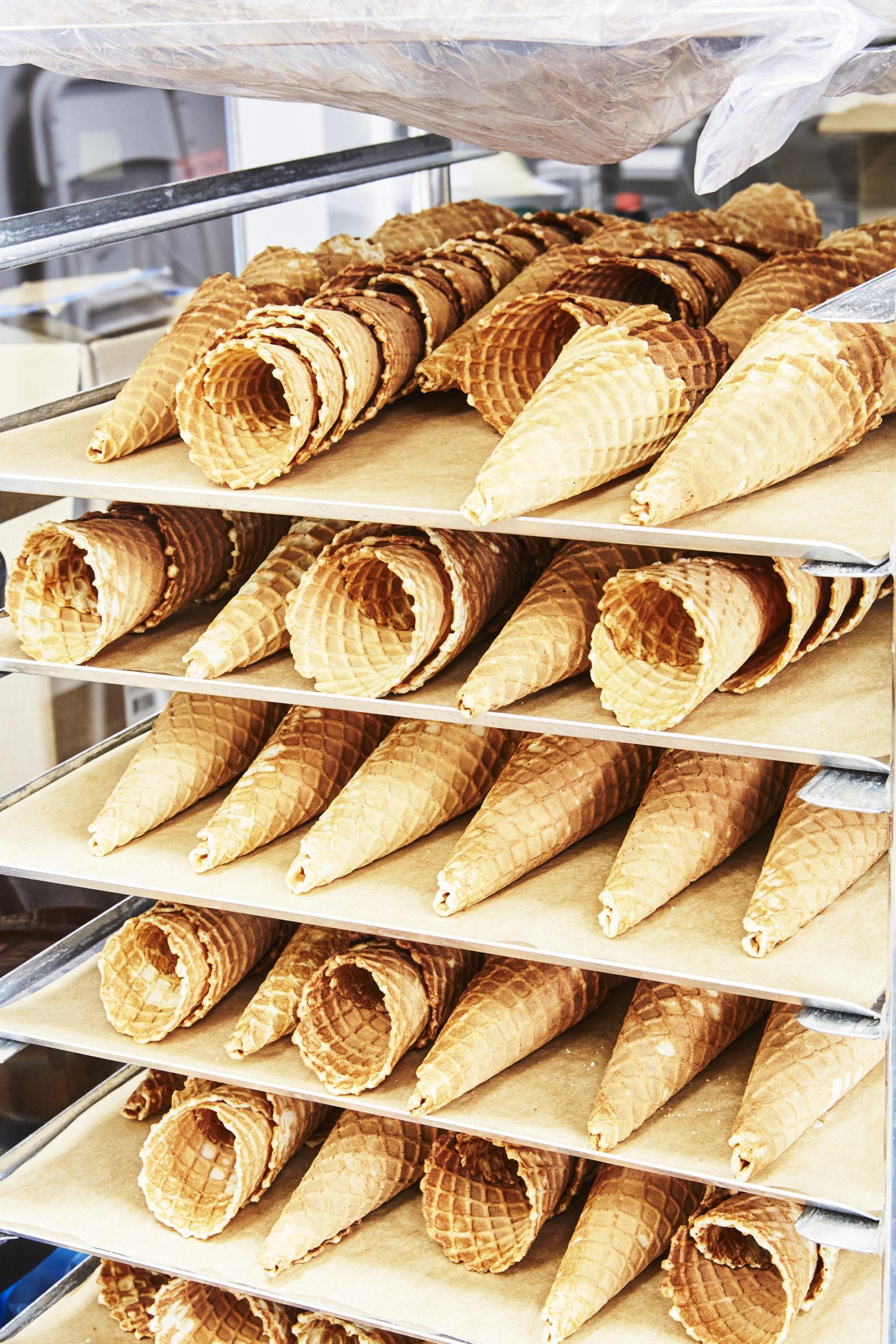 Handmade ice cream wafers